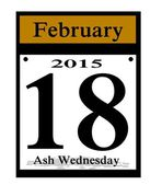 2015 ash wednesday icon — Stock Photo