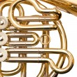 French horn fragment — Stock Photo #51923605