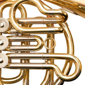 French horn fragment — Stock Photo