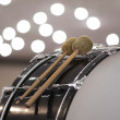 Fragment of a bass drum — Stock Photo #77043815