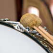 Fragment of a bass drum — Stock Photo #77043847