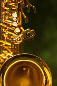 Fragment of the saxophone — Stock Photo