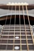 Fragment of a guitar — Stock Photo
