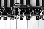 Fragment of a clarinet — Stock Photo