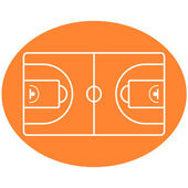 Basketball Ball Court vector — Stockvektor