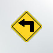 Left turn ahead icon. — Stock Vector