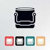 Bucket icon. — Cтоковый вектор