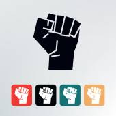Fist vector illustration. — Stock Vector