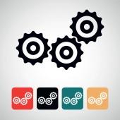 Ikonu ozubeného kola. — Stock vektor