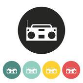 Tape recorder icon. — Stock Vector