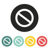 Prohibition sign icon. — Stock Vector