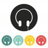 Headphone icon. — Vettoriale Stock