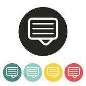 Message icon. — Stock Vector