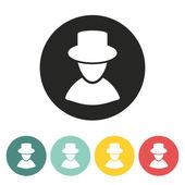 Man silhouette icon. — Stock Vector