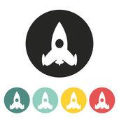 Raketa ikona. — Stock vektor