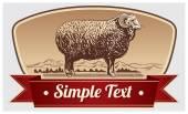 Graphical Ram, Sheep — Stockvektor
