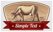 Graphic cow — Vecteur