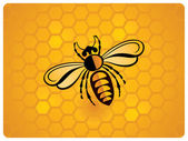 Bee, schematic icon — Stock Vector