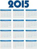 English calendar of 2015 year — Stock Vector