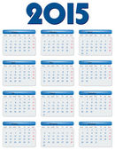 International calendar of 2015 year — Stock Vector