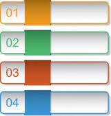 Four bookmarks — Stock Vector