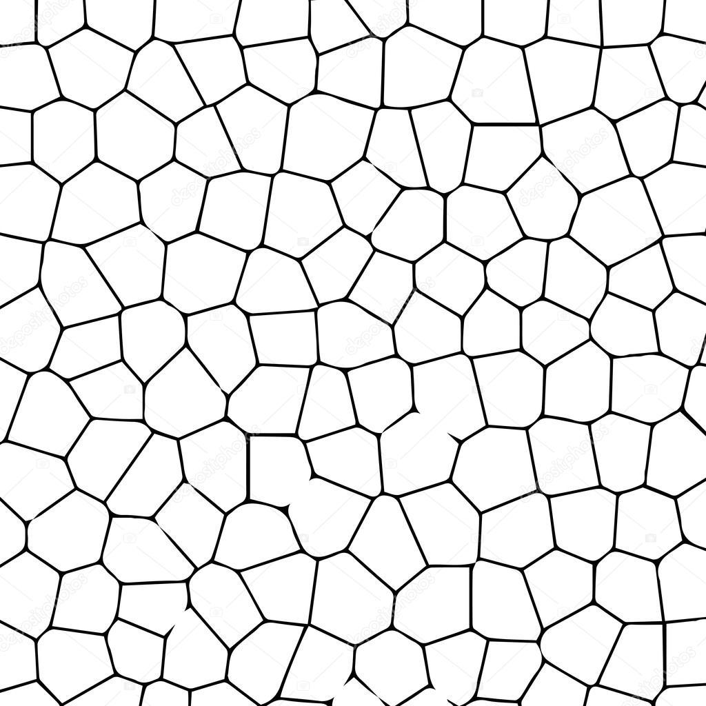 Downloaden - Zwart-wit textuur van gebarsten grond. vectorillustratie ...