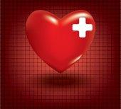 Koncept zdravotní problémy se srdcem — Stock vektor