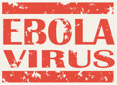 Illustration of red stamp with words Ebola Virus — Vetor de Stock