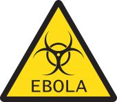 Illustration of sign of Ebola biological hazard — Stock Vector