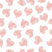 Seamless background of textile with hearts — Vettoriale Stock