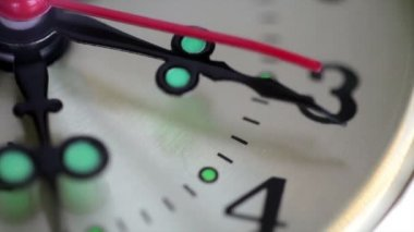 A close up of clock with second hand moving. HD video — Stock Video