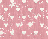 Seamless background with lines and hearts — Vettoriale Stock