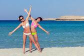 Two women are having fun — Stock Photo