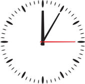 Clock isolated on white background — Stock Vector