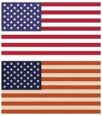 Two variants of American flags — Stock Vector