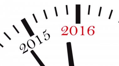 Clock countdown from year 2014 to 2015 — Stock Video
