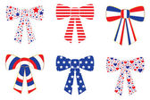 Patriotic Bows — Stock Vector