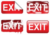 Decorative Exit Signs — Stock Vector