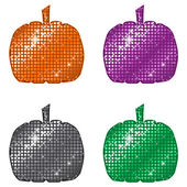 Glittering Pumpkins — Stock Vector