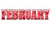 The Month of February — Stock Vector