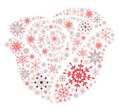 Snow Flake Rose — Stock Vector