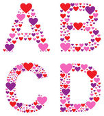 Hearty ABCD — Stock Vector