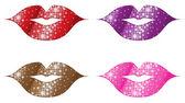 Glittering Lips — Stock Vector