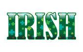 Irlandese — Vettoriale Stock