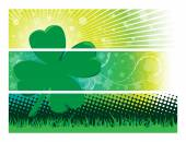 Clover Banners — Stock Vector