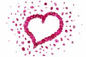 Ruby Red Heart — Stock Photo