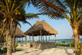 Wooden beach palapa — Stock Photo
