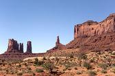 Sandstone mesa and needles  — Stock Photo