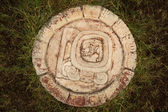 A carved Mayan calendar — Stock Photo