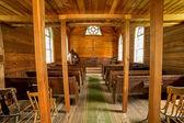 Old mining town church interioir — Stockfoto